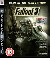 Fallout 3 GOTY Game of the Year Edition Playstation 3 PS3 **FREE UK POSTAGE**