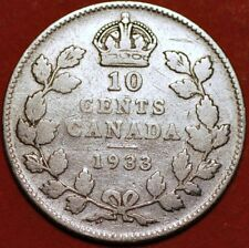 10 Cents 1933 George V silver Canada KM#23a