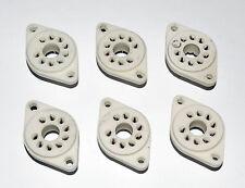 B9E B9D 9-pin Novar MagNoval Ceramic Tube Socket EL509 PL519 6JE6C EU-made, 2pcs