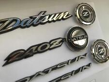 DATSUN 240Z  260z 280z Full Emblem Set in Metal - bonnet badge/qtr badge /hatch