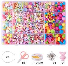 24Types Girls Kids Childrens DIY Craft Make Own Beads Jewellery Set Box Kit Gift