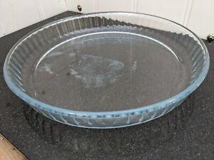 Pyrex Quiche Flan Dish 24 cm Glass High Resistance Cake Tart hs39