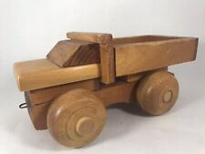Vintage Wooden Toy Truck Made In USA Dump Truck Joy Toy Craft Inc Model #35