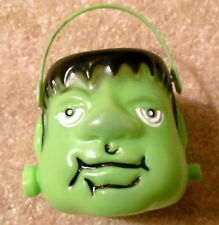 FRANKENSTEIN Monster Toy Candy Container With Neck Bolt - Vintage Halloween