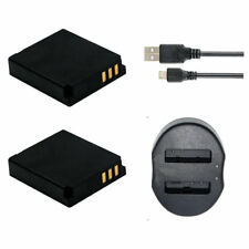 2Pack BP-DC4 Battery &USB DUAL Charger for Leica C-LUX1 D-LUX2 D-LUX3 D-LUX4