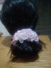 Fine Handmade Crochet Crocheted Hair Scrunchies white Red Brand New