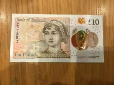 More details for   aa 01 polymer £10 bank of england note 2016