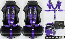 "2 X TANAKA PURPLE 5 POINT CAMLOCK RACING SEAT BELT HARNESS 3"" SFI 16.1 CERTIFIED"