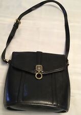 Vintage Brighton Authentic Numbered Shoulder Bag Purse handbag Black Leather
