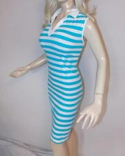 Striped Sleeveless T-shirt Dress, (US Size: XL - See Description)