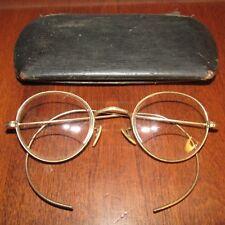 Antique Ao 1/20 12K Gold Filled Bifocals Eyeglasses With Snap Case-Look !
