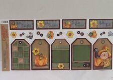 "Primitive Autumn Scarecrow Cardstock STICKERS LargeTags12"" SCRAPBOOKING Bo Bunny"