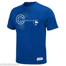 Chicago Cubs Royal Blue Authentic Change up Tee by Majestic Mens Sz- S NWT