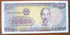 Vietnam 1988 One Thousand 1000 Vietnamese Dong Paper Money Banknote P#102 UNC