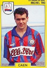N°028 MICHEL RIO CAEN VIGNETTE PANINI FOOTBALL 92 STICKER 1992
