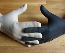 100 Latexhandschuhe weiss oder schwarz , Einweghandschuhe , XS, S, M, L, ,XL