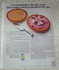 1969 vintage ad - Baker's Coconut Strawberry ice cream Pie recipe Print AD