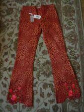 Blumarine Jeans orange flare laser cut out animal print jeans UK 10 BNWT