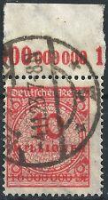 Korbdeckel MiNr. 318AP vom Plattenoberrand A mit KURZBEFUND Weinbuch gestempelt