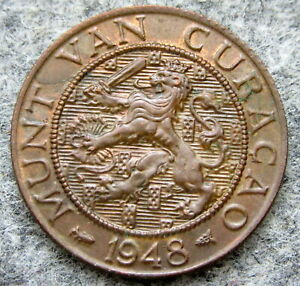 CURACAO - NETHERLANDS ANTILLES 1948 2-1/2 CENTS
