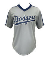 MLB Los Angeles Dodgers Men's Royal V-neck Jersey - Gray