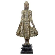 Buddha stehend Feng Shui Figur Skulptur Asien Dekoration handbemalt Antik-Stil