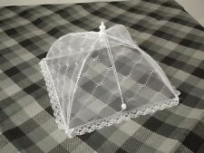 2 x COLLAPSIBLE MESH FOOD COVER stops fly wasp kichen in garden BBQ net buzz off