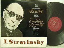 STRAVINSKY Concerto Piano Yudina, Symphony in 3 Movements 1980 Melodia LP NM