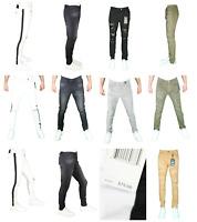 Men's Jordan Craig Slim Fit Skinny Super Stretch Denim Ripped Biker Jeans 32-44