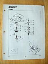 Original Ryobi S 500a Sander Illustrated Parts List
