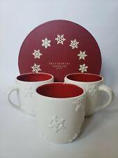 Pottery Barn Snowflake Mugs Gobelets Set of 3