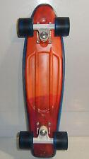 """22"""" Cruiser Penny Board Rare Blue Orange Red Melt 2013 Inscribed Skate And Enjoy"""