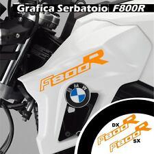 GRAFICA CARENA ADESIVO SERBATOIO BMW F800R F800 R CARENE STICKERS ARANCI ADESIVI