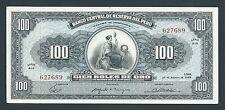 F.C. PERU , 100 SOLES DE ORO 1965 , EBC- ( AXF ) , P.90a .