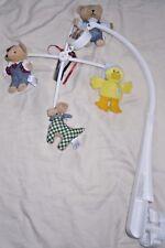 Springmaid Musical baby Nursery Crib Mobile Bears Dog Duck Animals Lullaby