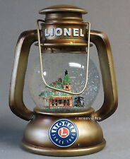 LIONEL CONDUCTORS LANTERN SNOW GLOBE train holiday santa claus christmas 9-33025
