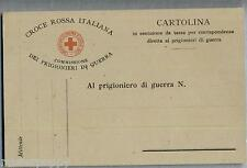 Croce Rossa Franchigia Prigionieri di Guerra PC Circa 1915 WWI Red Cross