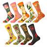 Womens Cotton Socks Novelty Colorful Flower Funny Dress Socks For Wedding Gift