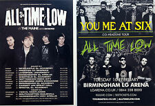 5 X ALL TIME LOW TOUR FLYER CARDS ALEX GASKARTH