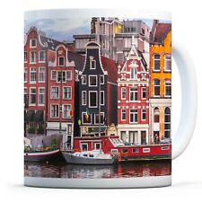 Amsterdam Houses River - Drinks Mug Cup Kitchen Birthday Office Fun Gift #16600