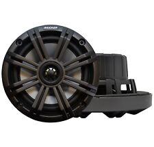 """Kicker KM Series Marine 6.5"""" 2-Way Speakers 195 Watt LED Lighting, 45KM654L"""