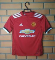 Manchester United Jersey 2017 2018 Youth 9-10 Shirt Adidas Home Trikot Maglia