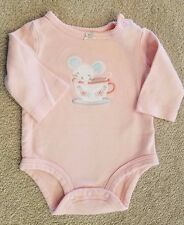 SWEET! BABY CARTER'S 3 MONTH PINK MOUSE BODYSUIT