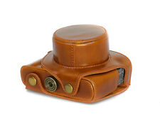 Bolso De Cámara Estuche para Leica D-Lux tipo 109 Funda cuero artificial Marrón