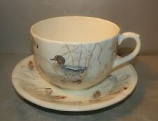 NEW Jumbo Breakfast Cup & Saucer ,  Sologne Pattern  From GIEN