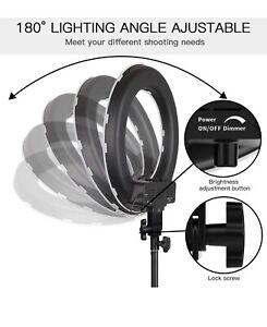"Samtian Camera LED SMD Ring Light Photo/Video 18""/48cm Plastic Color Filter"