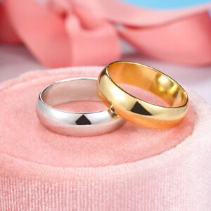 Wedding Fashion Ring Men Women Gold Jewelry Couple Engagement Band Rings Size 9