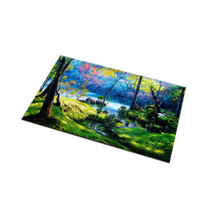 Forest Lake River Scenery Kitchen Area Rugs Non-Slip Mat Durable Doormat Carpet