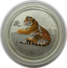 Australien 50 Cents 2010, ½ Unze,Lunar II Jahr des Tigers , coloriert,in Farbe