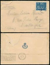 SWEDEN 1924 UPU OFFICIAL STATIONERY ENVELOPE with 30o SINGLE FRANKING to FRANCE